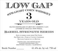 LG Straight Corn Whiskey